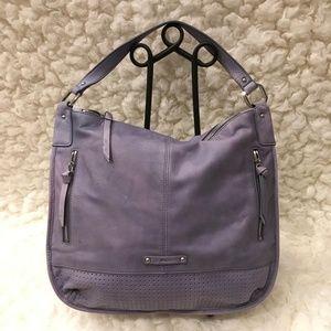 b Makowski Leather Lavender Shoulder Bag